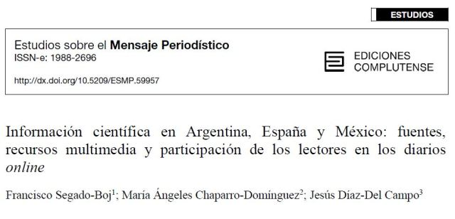 Informacion científica en Argentia, España y Mexico