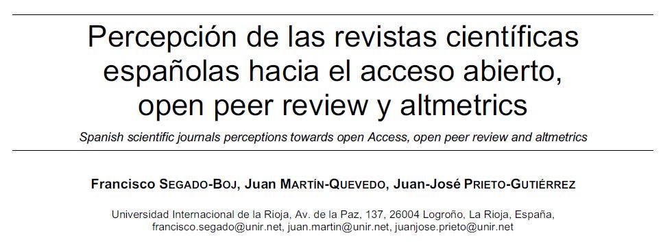 RevistasAccesoAbiertoOpenPeerReviewAltmetrics