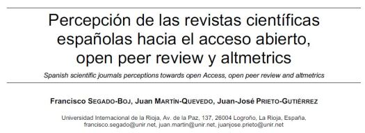 RevistasAccesoAbiertoOpenPeerReviewAltmetrics